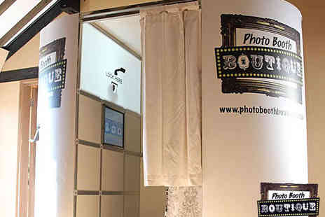 Photo Booth Boutique - Three Hour Photobooth Hire - Save 39%