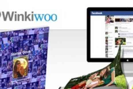 Winkiwoo -  One Personalised 20cm x20cm Photo Book Using Facebook Images - Save 70%