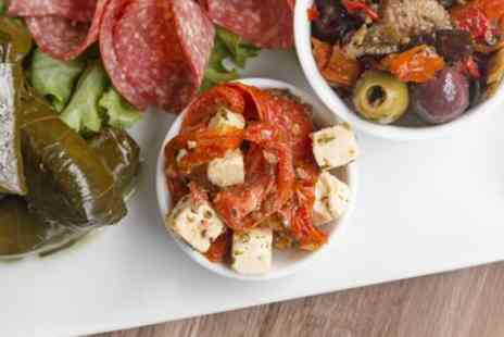 Armenian Taverna - Lunchtime mezze sharing platter with a drink for 4 - Save 40%