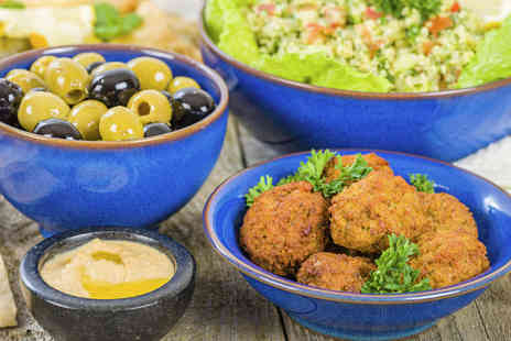 Chamisse - Three Course Lebanese Mezze with Wine for Two  - Save 63%