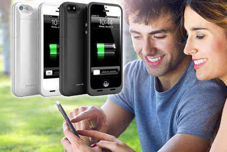 Handy Charging Case for Your iPhone - Charging Case in Black or White for iPhone 4/4S or 5/5S - Save 50%