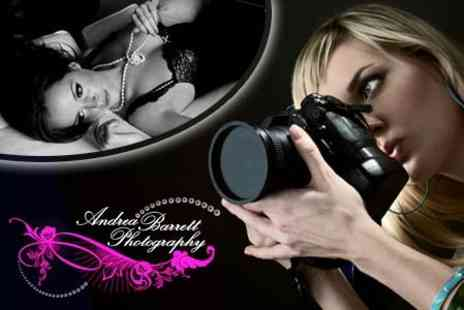 Andrea Barrett Photography - £19.50 for Vintage Boudoir Photo Shoot With Hair, Make-Up, Champagne and Mounted Photo - Save 90%