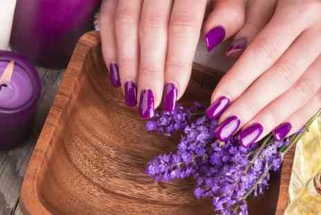 3D Hair And Beauty - Manicure or Pedicure With Massage  - Save 59%
