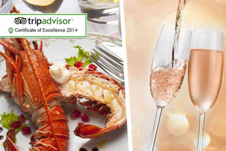 Mansion - Lobster or steak meal for 2 including a sparkling cocktail - Save 49%