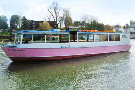 JGF Boats - Shepperton Boat Cruise with Glass of Wine Each for Two - Save 57%