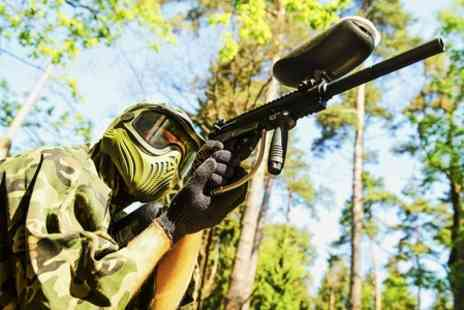 Combat Paintball - Combat Paintball Experience With Lunch For Four - Save 75%