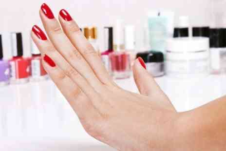 Guys & Dolls - Mini Manicure or Pedicure With Shellac Polish - Save 67%