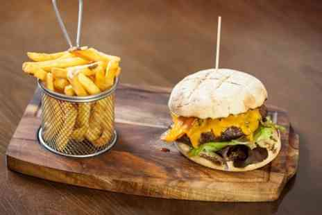 Blushh Wine Cocktail and Food - Burger and Chips For Two  - Save 50%