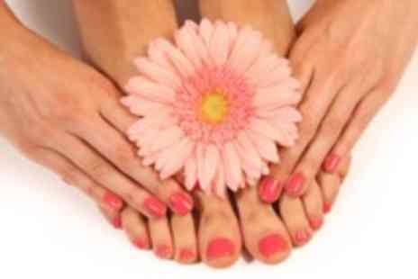 Royas holistic therapies - Shellac or gel manicure and pedicure - Save 67%
