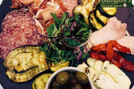 Billingtons Deli - Antipasto Misto Platter and Prosecco for Two - Save 51%