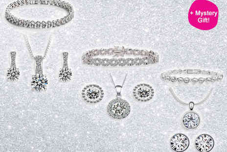 Sparkling Jewellery Set -  Three Piece Jewellery Set  - Save 88%