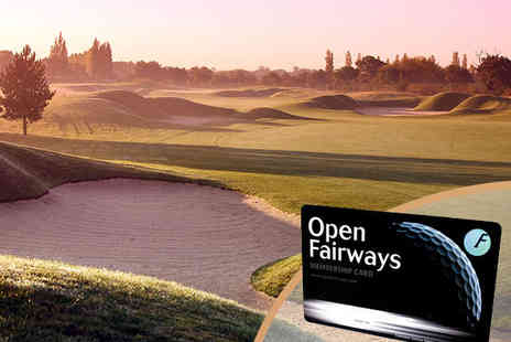 12 Months of Golf Course Discounts - 12 Month Golfing Privilege Card - Save 72%