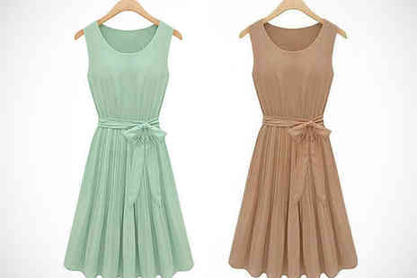 Little Secret Boutique - Chiffon Dress in Mint or Coffee - Save 70%