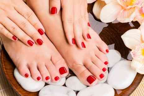 Beauty at Make Hair Co - Manicure and Pedicure  - Save 55%
