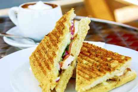 Caffe Gusto - Panini or Ciabatta With Dessert and Hot Drink - Save 52%