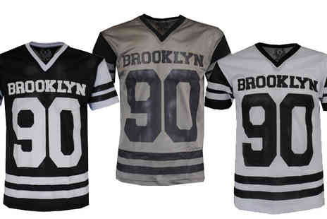 Fashion Code - MFW Branded Mens American Football Mesh Shirt - Save 50%