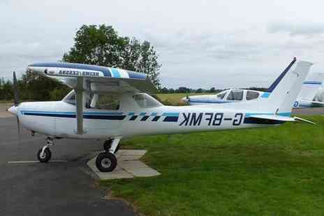 Leicestershire Aero Club - One hour flying experience plus glass of wine - Save 34%