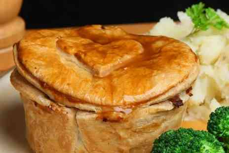 The Cross Keys - Steak and Ale Pie and Pint of Beer For Two  - Save 51%