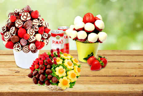 Apeeling Fruit Bouquets - Fruit bouquet including choice of Wimbledon Special, Berry Blast and Mixed Sharer - Save 53%
