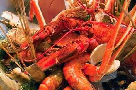 hidden treasure - Lobster Platter For Two People, Plus Wine  - Save 68%