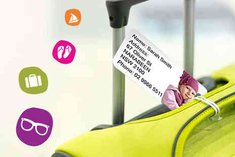 Personalised Photo Tag to Keep Track - One  Personalised Photo Luggage Tags - Save 60%
