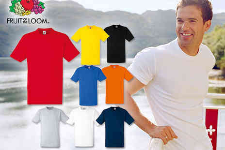 living and beyond - Pack of Eight Coloured Fruit of the Loom T Shirts - Save 70%