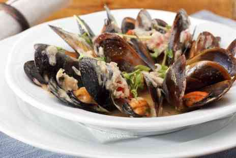 Cafe Bruxelles - Mussles or Steak Meal  - Save 49%