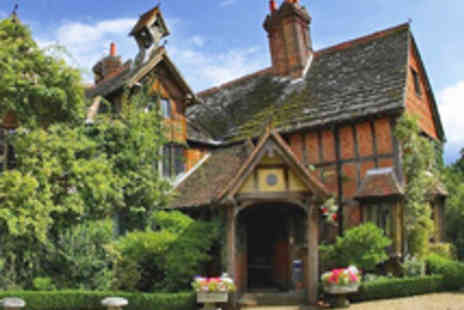 Langshott Manor - Luxury Surrey Manor House Stay with Five Dish Tasting Menu for Two - Save 49%