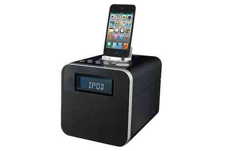 T L X Electrical - Polaroid Clock Radio Docking Station for iPod/iPhone/iPad - Save 53%
