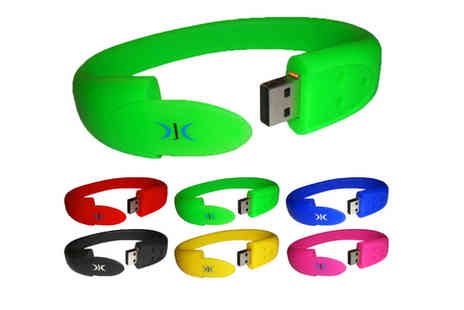 djc electronics - 8GB or 16GB USB Wristband Flash Drive - Save 44%