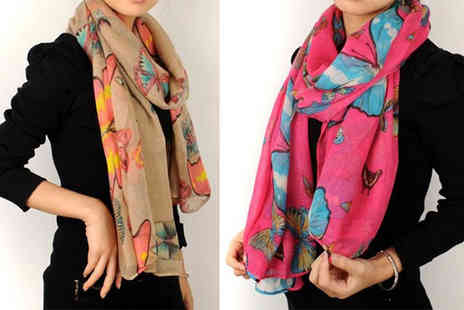 Essential Silver - Women's Summer Scarves in 15 Designs - Save 57%