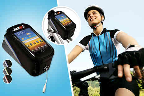 Jazooli - Bicycle frame pannier mobile phone pouch in a choice of 3 - Save 50%