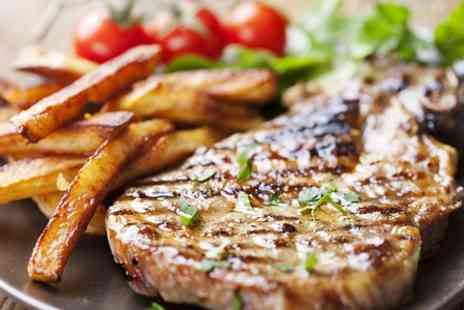 The Cross Hands of Alveston - Seafood Platter or Steak With Wine For Two  - Save 51%