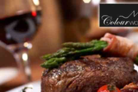 Colourworks Restaurant - Three Courses of Modern European Cuisine For Two - Save 61%