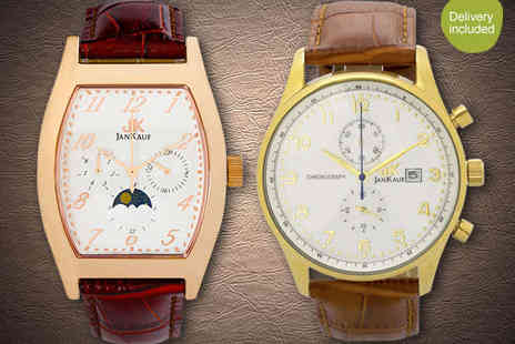 Jan Kauf - Mens Watch in Choice of Two Styles with Delivery Included - Save 85%