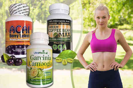 Lifestyle Supplements - Acai Berry, Garcinia Cambogia, or Green Coffee Bean Capsules - Save 65%