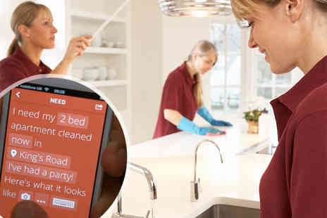 Bizzby - Three hours on demand domestic cleaning - Save 75%