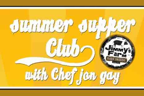 Jimmys Farm - Entry to The Big Cheese Summer Supper Club For Two - Save 50%