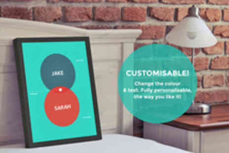 Inkables - A Choice of A4 or A3 Personalised Wall Prints - Save 44%