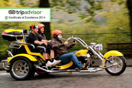 Trike Tours Scotland - One hour trike tour for 2 including equipment, photos and tea or coffee - Save 61%