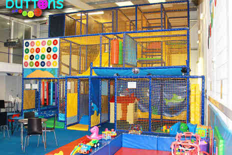 Buttons Soft Play - Entry to Soft Play Area and a Hot Meal for Two  - Save 57%
