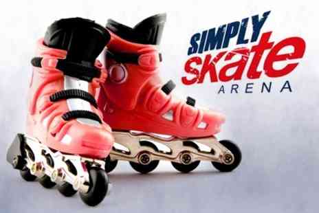 Simply Skate Arena - Roller Blading for Four People - Save 71%