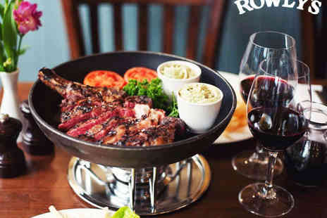 Rowley's Restaurant - Cote de Boeuf with Unlimited Fries and Salad for Two - Save 51%