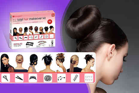 The Style Institute - Eight  Hairagami hair styling kit including spring rings - Save 80%
