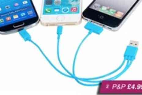 ASPA Supplies - USB 3 in 1 charging cable for Apple & Samsung - Save 96%