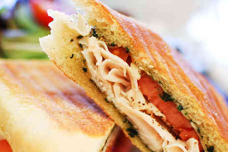 Nickys Kitchen - Panini or Sandwich with Hot Drink for Two - Save 57%