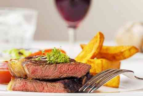 Madisons Bistro Bar - Sirloin Steak Meal With Wine For Two - Save 52%