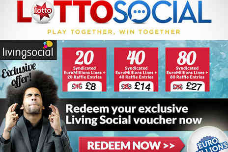 Lotto Social - 20 EuroMillions Syndicated Lines - Save 47%