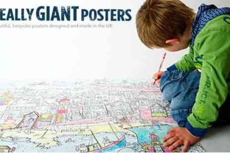 Really Giant Posters -  2 Really Giant Colouring in Posters  - Save 50%