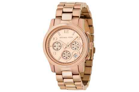 Stagwatches - Michael Kors Runway Rose Gold Chronograph Watch - Save 34%